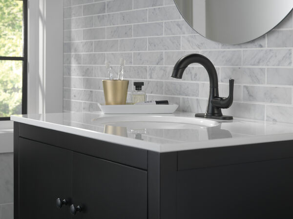 Single Handle Pull-Down Bathroom Faucet, image 3