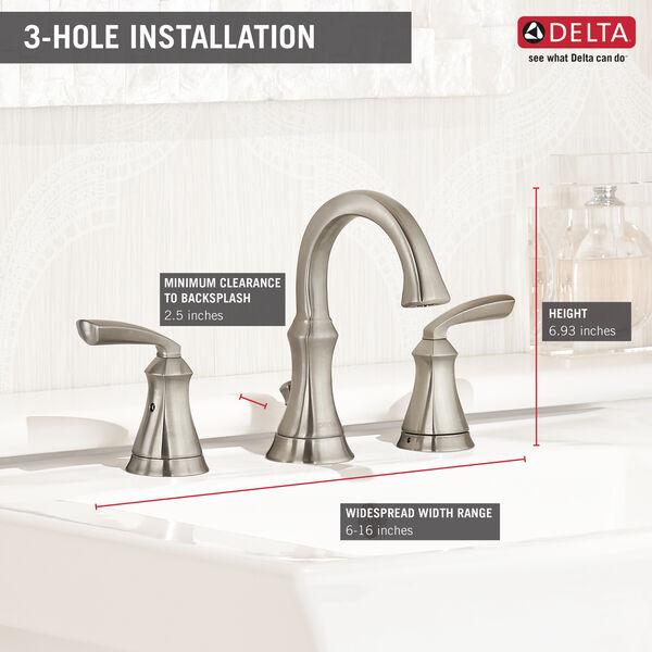 Two Handle Widespread Bathroom Faucet, image 5