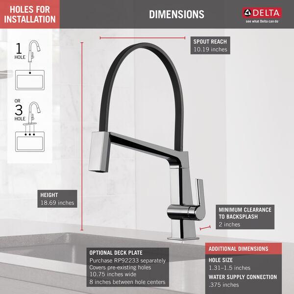 Single Handle Exposed Hose Kitchen Faucet 9693 Dst Delta Faucet