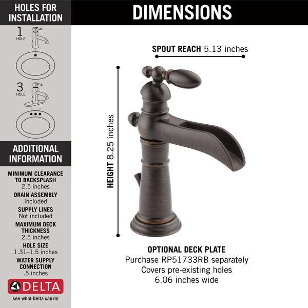 Single Handle Channel Bathroom Faucet, image 3