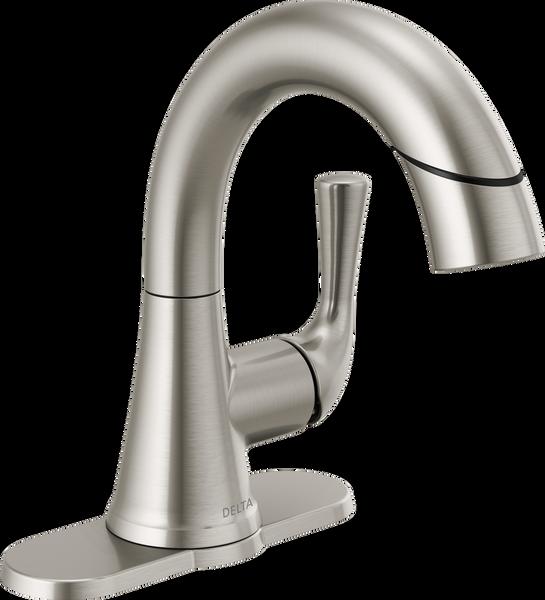 Single Handle Pull-Down Bathroom Faucet, image 14