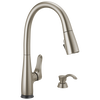 Dunsley Single Handle Pull Down Kitchen Faucet with Touch 2O and VoiceIQ Technology