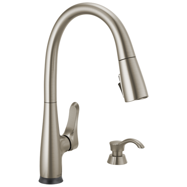 Dunsley Single Handle Pull Down Kitchen Faucet with Touch 2O and VoiceIQ Technology, image 1