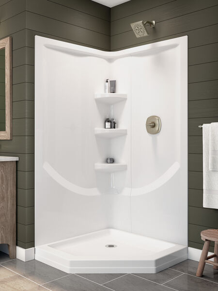 38'' Direct-to-Stud Corner Shower Wall Set, image 14