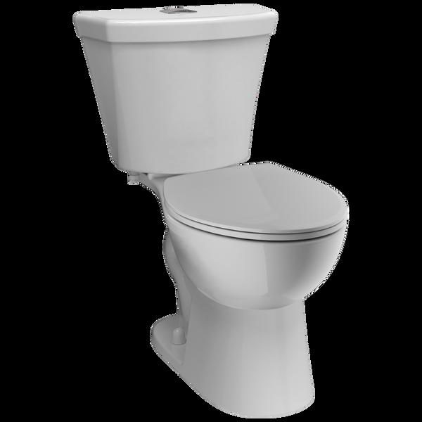 Round Front Dual-Flush Toilet, image 1