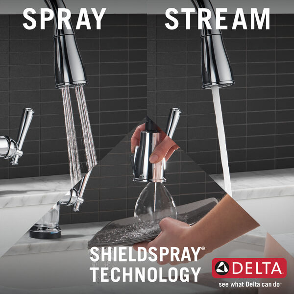 Single Handle Pull-Down Kitchen Faucet with Touch2O® and ShieldSpray® Technologies, image 11