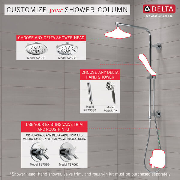 """Shower Column 26"""" Round, image 3"""