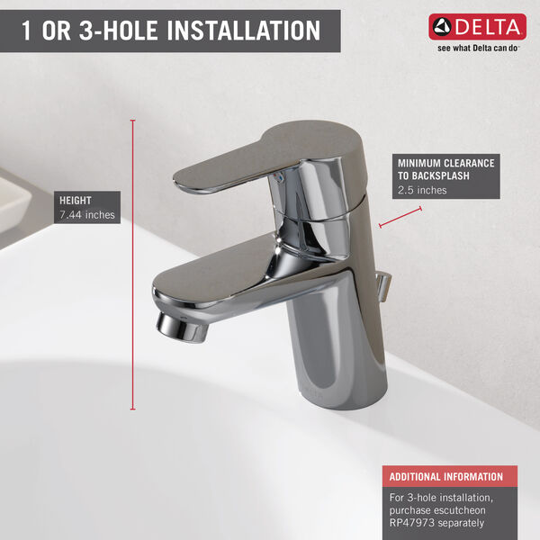Single Handle Project-Pack Bathroom Faucet, image 2