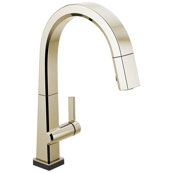Single Handle Pull Down Kitchen Faucet with Touch<sub>2</sub>O® Technology, image 1