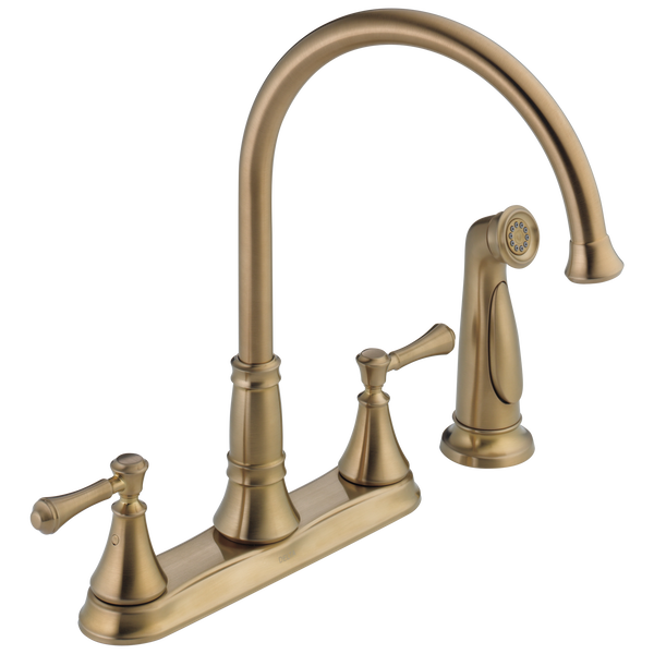 Two Handle Kitchen Faucet with Spray, image 1