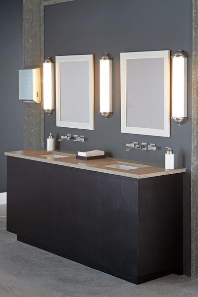 Two Handle Wall Mount Channel Bathroom, Wall Mounted Faucet Bathroom
