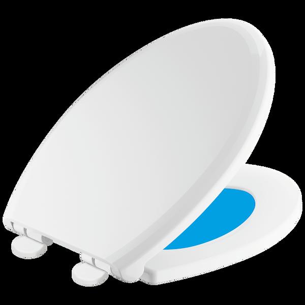 Elongated Slow-Close / Quick-Release Nightlight Seat, image 1