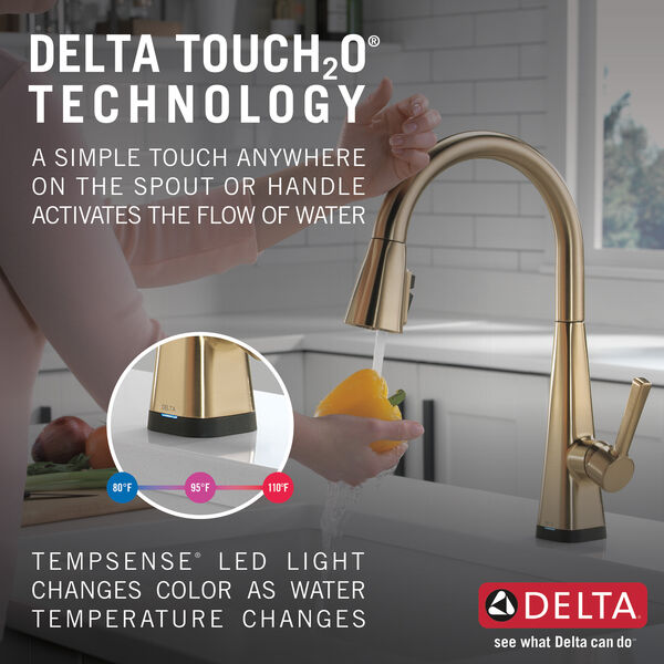 Single-Handle Pull-Down Kitchen Faucet with Touch2O® Technology, image 10