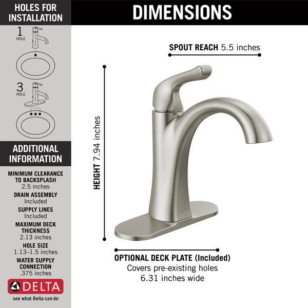 Single Handle Centerset Bathroom Faucet, image 2