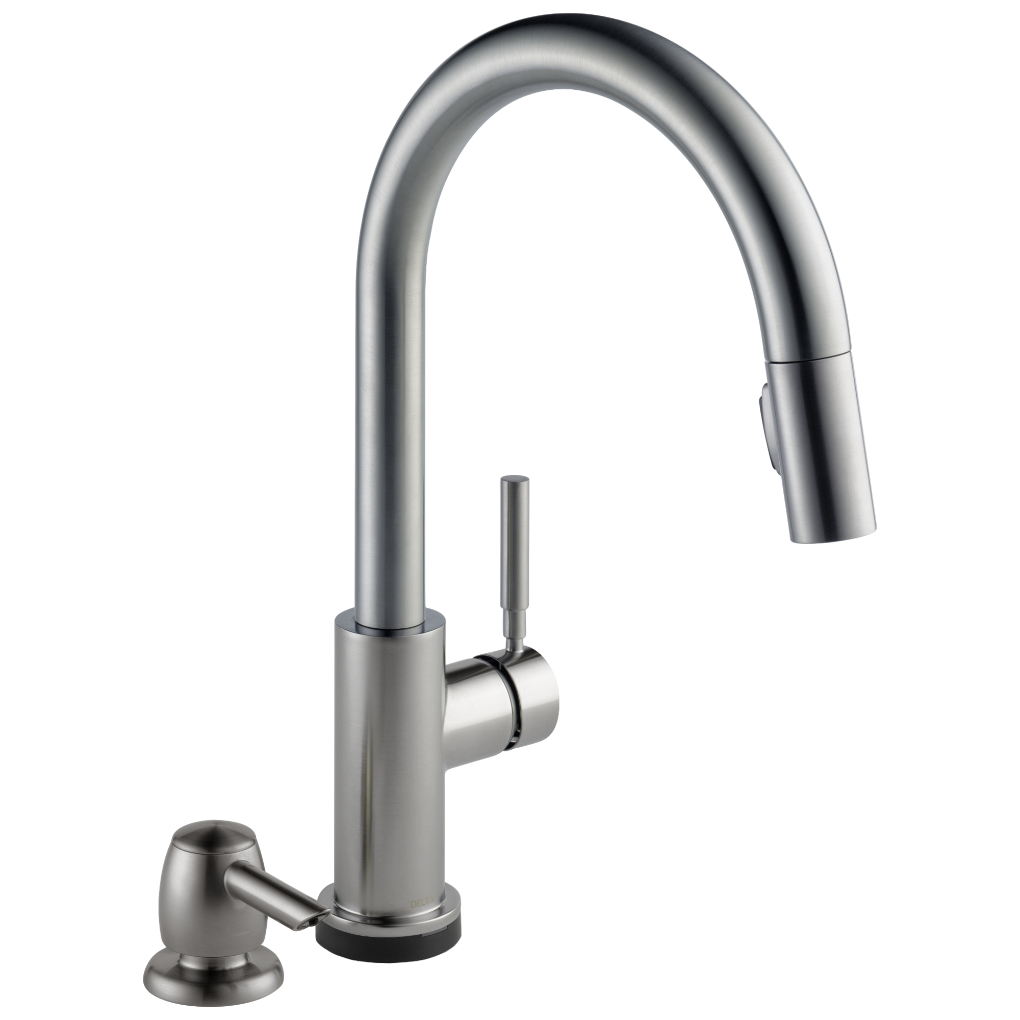 Single Handle Pull-Down Kitchen Faucet with Touch2O® Technology and Soap Dispenser