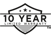 10-year limited warranty