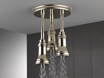 LED Pendant Raincan Showerhead