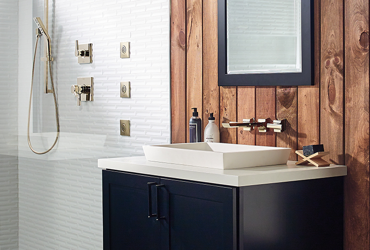 Bathroom fixture finishes