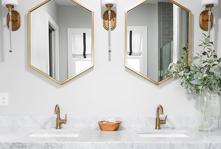 Bathroom faucet finishes: Champagne Bronze
