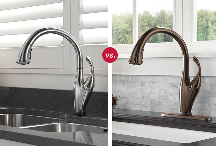 Kitchen faucet finishes: Stainless vs. bronze