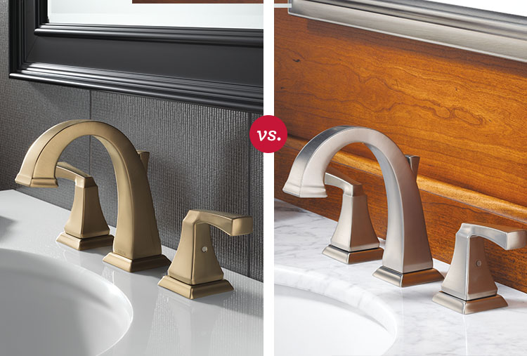 Bathroom faucet finishes: Bronze vs. stainless