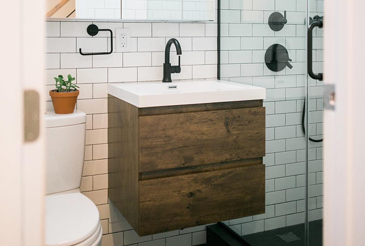 Small-bathroom design ideas: Floating vanities