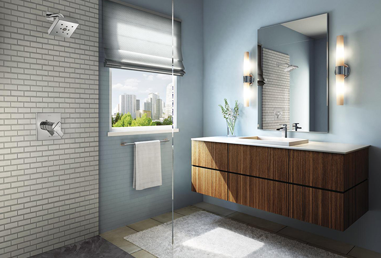 Small-bathroom design: Use more glass to make the space feel larger