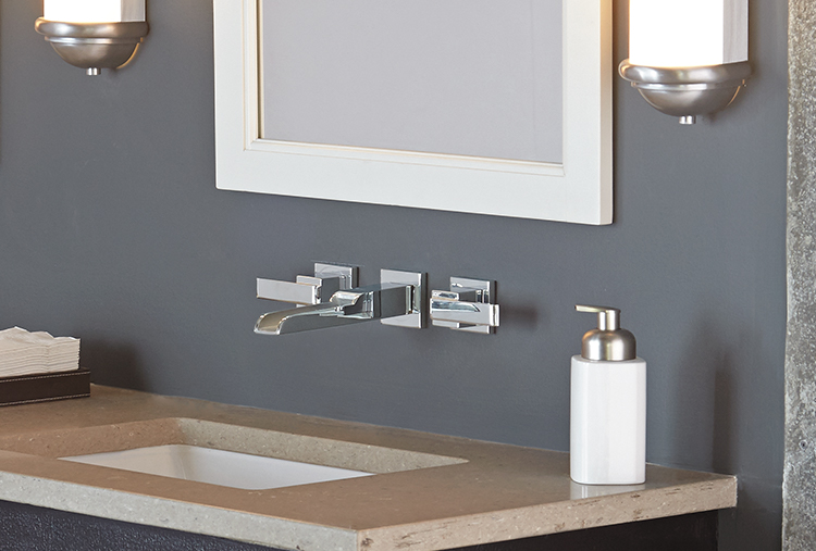 Small-bath ideas: Wall-mounted faucets