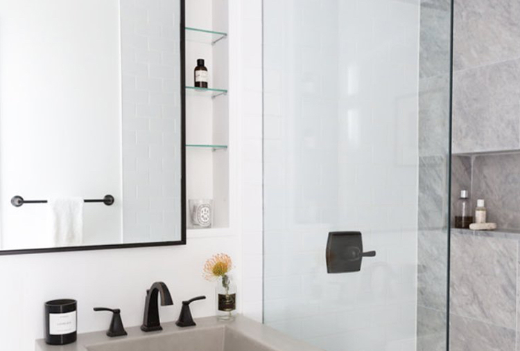 Increase small-bathroom storage: Wall-mounted medicine cabinet
