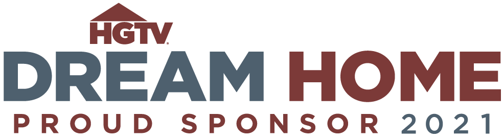 2021 HGTV Dream Home logo with burgandy and dark grey letters