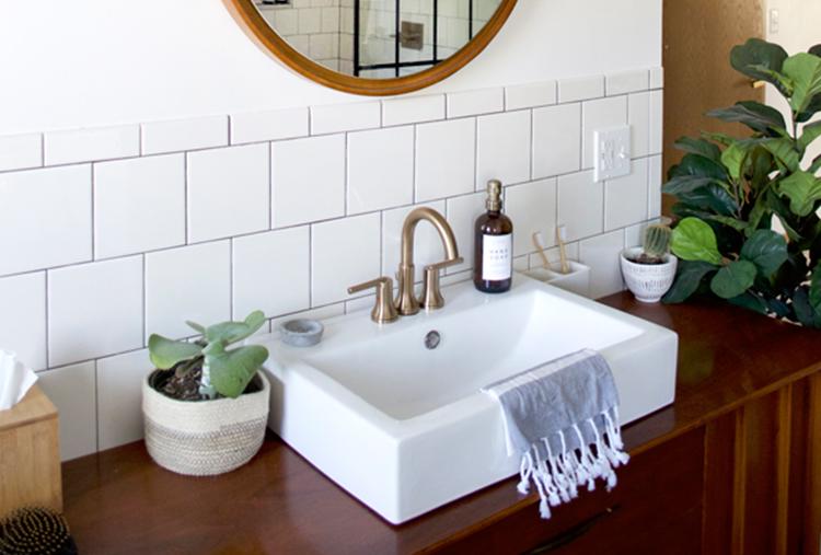 Master Bathroom Renovation Vintage Modern Design Ideas Delta Faucet Inspired Living