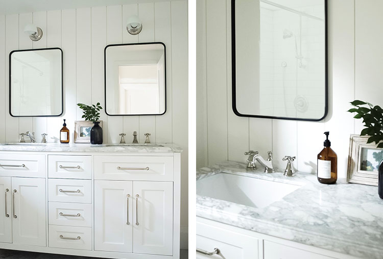 Coco Jack Reveal A Modern Farmhouse Bathroom Delta Faucet Inspired Living