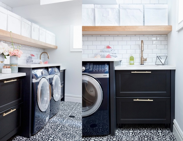 A Before And After Laundry Room Remodel Story Small Laundry Room Ideas Delta Faucet Inspired Living
