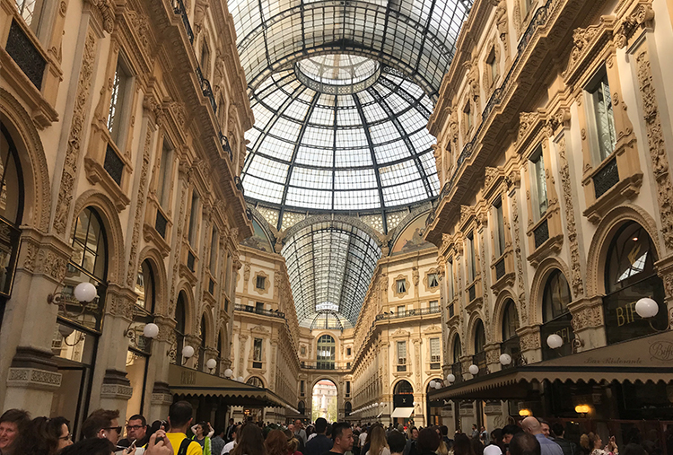 The atrium of the Galleria Vittorio Emanuele