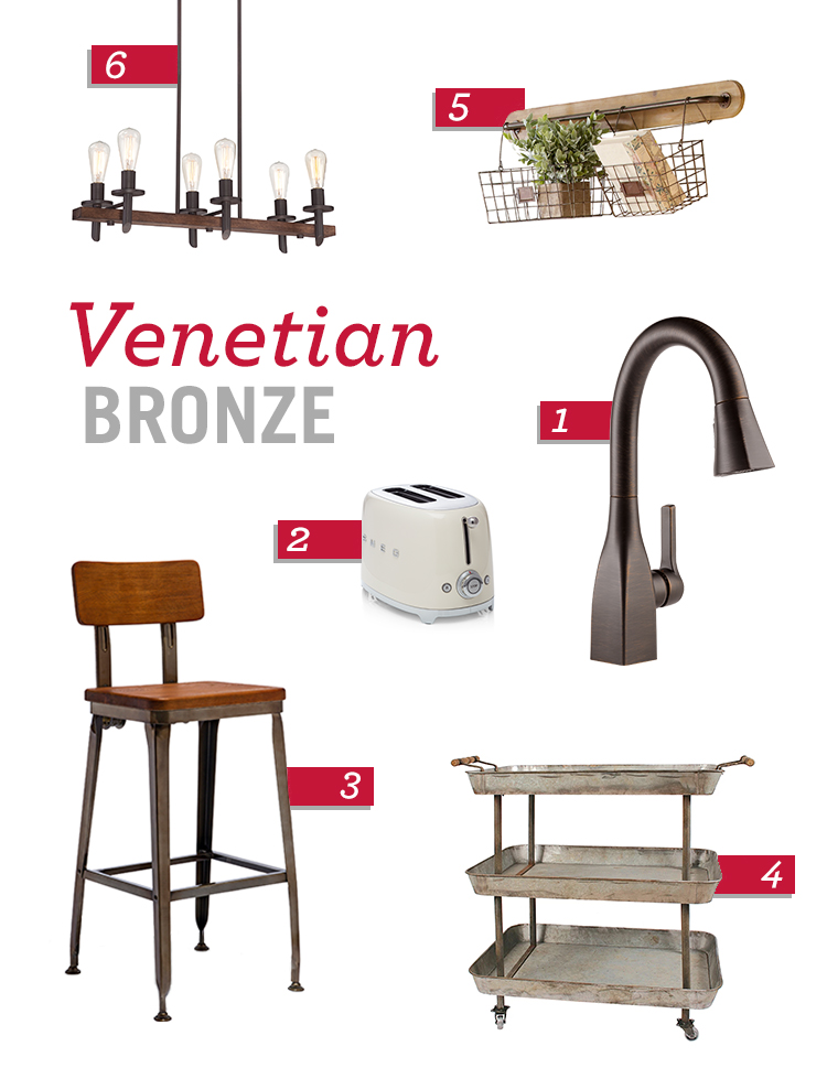 Kitchen Design Trends: Venetian Bronze Products and Accents
