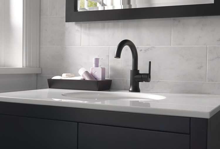 Matte Black Style For The Bathroom Delta Faucet