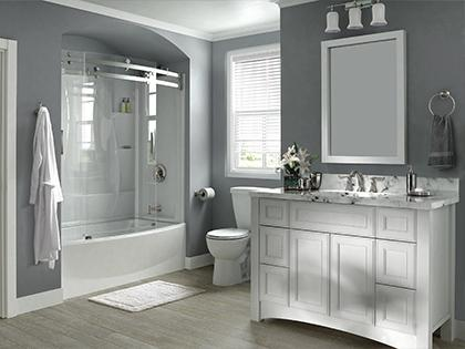 Curved Frameless Tub/Shower Door