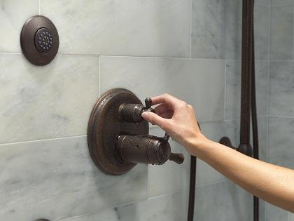 Integrated Shower Diverter